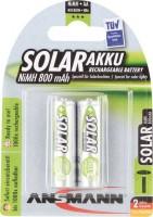 AAA Akkus ANSMANN 800 mAh LR03 Micro SOLAR 2er Pack