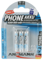 AAA Akkus ANSMANN 800 mAh LR03 Micro Dect 3er Pack