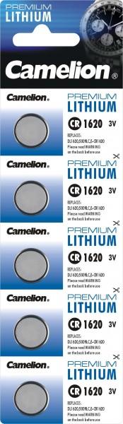 CR1620 CAMELION Knopfzelle Lithium 5er Streifen