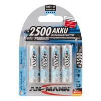 AA Akkus ANSMANN 2500 mAh LR06 maxE blue Mignon 4er Pack