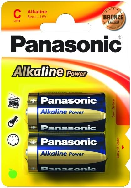 Babyzellen PANASONIC LR14 Baby-C Alkaline Power 2er Pack
