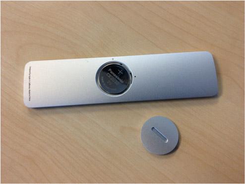 Apple TV Fernbedienung Batteriewechsel