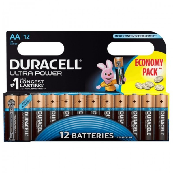 AA Batterien DURACELL LR06 Mignon MX1500 Ultra Power 12er Pack
