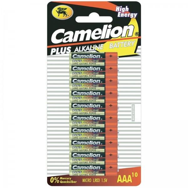 AAA Batterien CAMELION LR03 Micro Alkaline Plus 10er Pack