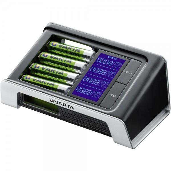 Varta LCD Ultra Fast Charger mit 4x AA 2400mAh Akkus