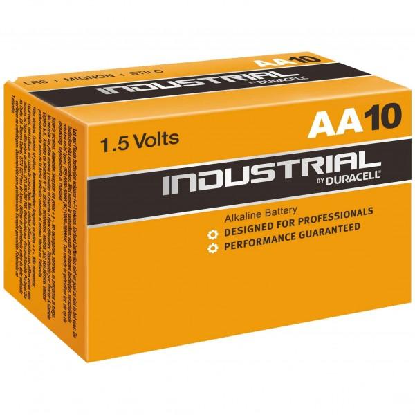 AA Batterien DURACELL LR06 Mignon ID1500 Industrial 10er Pack
