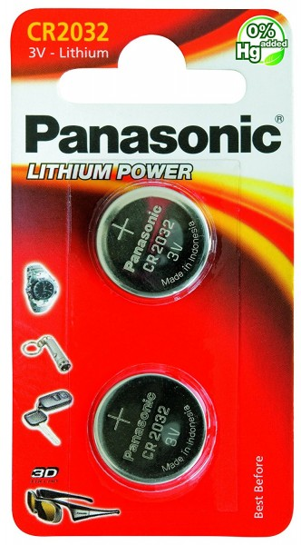 CR2032 PANASONIC Knopfzelle Lithium 2er Pack