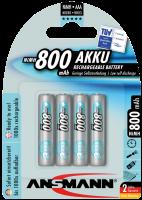 AAA Akkus ANSMANN 800 mAh LR03 Micro maxE 4er Pack