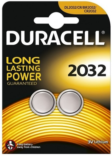 CR2032 DURACELL Knopfzelle Lithium 2er Pack