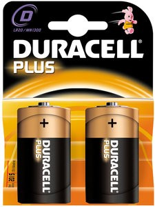 Monozellen DURACELL LR20 Mono-D Plus Power MN1300 2er Pack