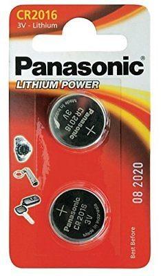 CR2016 PANASONIC Knopfzelle Lithium 2er Pack