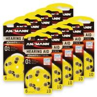 Typ 10 Hörgerätebatterien ANSMANN PR70 60er Pack