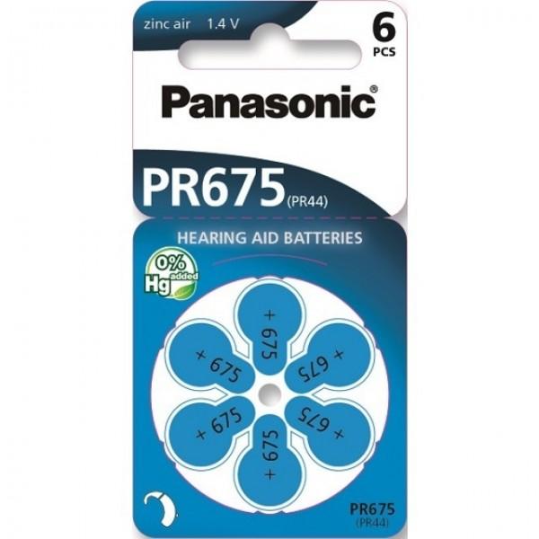 Typ 675 Hörgerätebatterien PANASONIC PR675 PR44 6er Pack