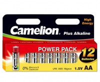 AA Batterien CAMELION LR06 Mignon Plus Alkaline Power Pack 12er Pack