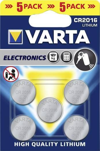 CR2016 VARTA Knopfzelle Lithium 5er Pack