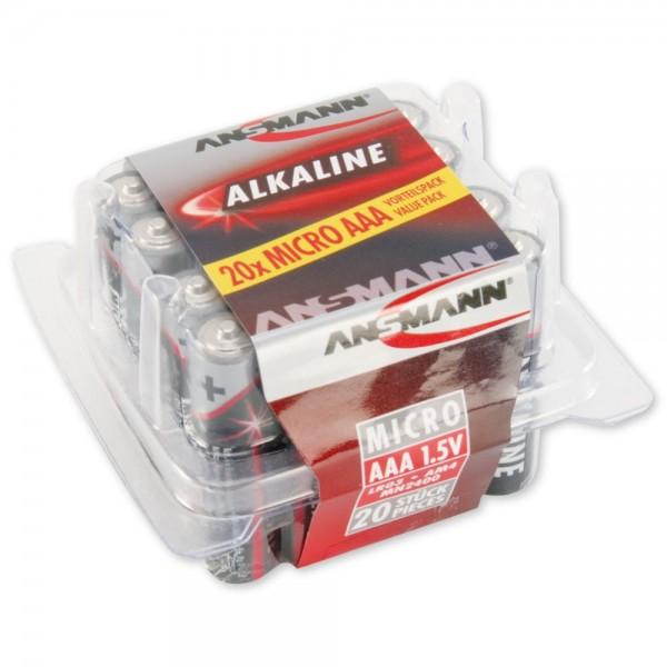 AAA Batterien ANSMANN LR03 Micro RED Alkaline 20er Box