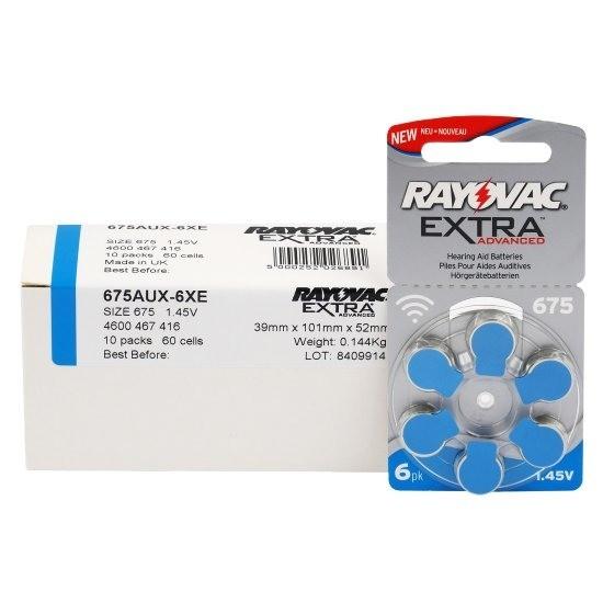 Typ 675 Hörgerätebatterien RAYOVAC Extra Advanced R675AE PR44 60er Pack