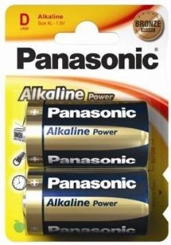 Monozellen PANASONIC LR20 Mono-D Alkaline Power 2er Pack