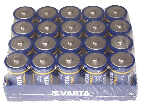 Monozellen VARTA LR20 Mono-D Industrial 4020 20er Pack
