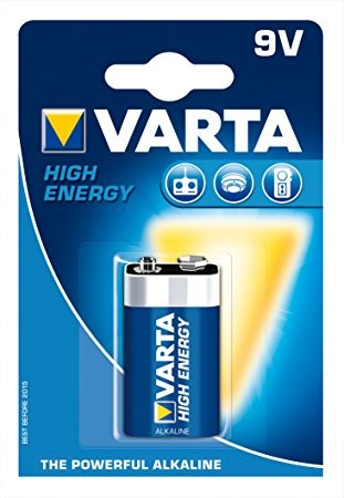 9V Batterie VARTA 6LR61 9V-Block 4922 High Energy 1er Pack