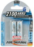 AA Akkus ANSMANN 2100 mAh maxE Mignon Blue 2er Pack