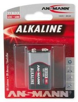 9V Batterie ANSMANN 6LR61 9V-Block RED Alkaline 1er Pack