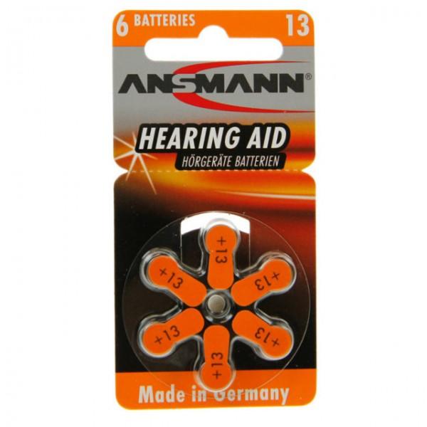 Typ 13 Hörgerätebatterien ANSMANN PR48 6er Pack