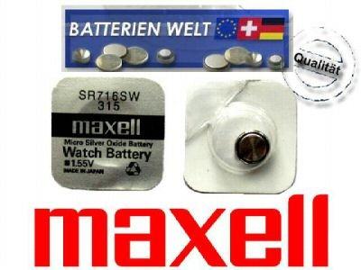 SR716SW Maxell Uhrenbatterie