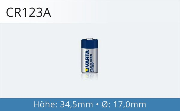 CR123A Fotobatterie