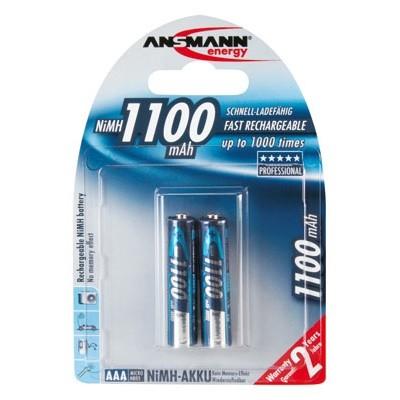 AAA Akkus ANSMANN 1100 mAh LR03 Micro Professional 2er Pack
