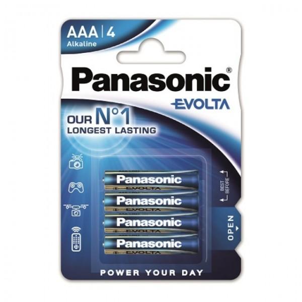 AAA Batterien PANASONIC LR03 Micro Evolta Alkaline 4er Pack