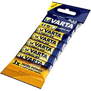 AA Batterien VARTA LR06 Mignon Longlife Extra 4106 8er Pack
