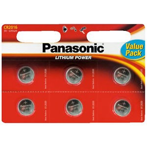 CR2016 PANASONIC Knopfzelle Lithium 6er Pack