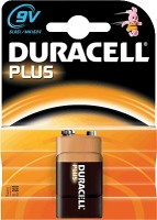 9V Batterie DURACELL 6LR61 9V-Block MN1604 Plus Power 1er Pack