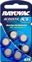 Typ 675 Hörgerätebatterien VARTA RAYOVAC Acoustic Special HA675 PR44 6er Pack