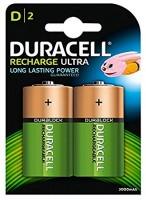 Monozellen Akkus DURACELL 3000 mAh LR20 Mono-D Recharge Ultra 2er Pack