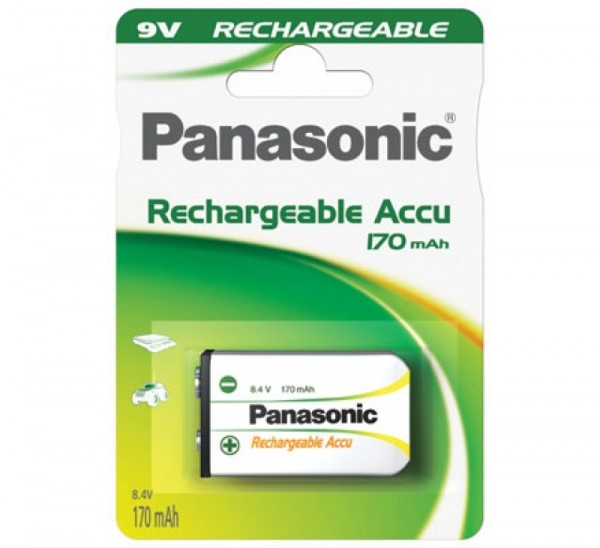 9V Akku PANASONIC 170 mAh E-Block 1er Pack