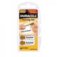 Typ 312 Hörgerätebatterien DURACELL EasyTab PR41 6er Pack