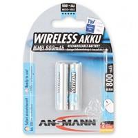 AAA Akkus ANSMANN 800 mAh LR03 Micro maxE 2er Pack