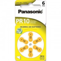 Typ 10 Hörgerätebatterien PANASONIC PR70 6er Pack