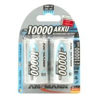 Monozellen Akkus ANSMANN 10000 mAh LR20 Mono-D Professional 2er Pack