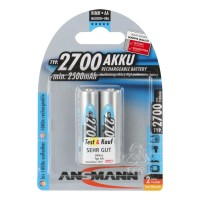 Ansmann AA Akku 2700 mAh Digital Mignon 2er Pack