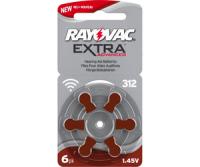 Typ 312 Hörgerätebatterien RAYOVAC Extra Advanced R312AE PR41 6er Pack
