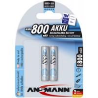 AAA Akkus ANSMANN 800 mAh LR03 Micro Standard 2er Pack
