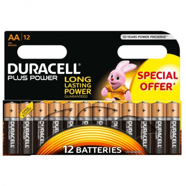 AA Batterien DURACELL LR06 Mignon MN1500 Plus Power 12er Pack