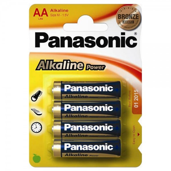 AA Batterien PANASONIC LR06 Mignon Alkaline Power 4er Pack
