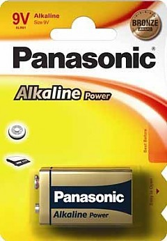 9V Batterie PANASONIC 6LR61 9V-Block Alkaline Power 1er Pack