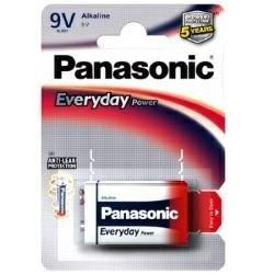9V Batterie PANASONIC 6LR61 9V-Block Everyday Power 1er Pack