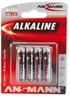 AAA Batterien ANSMANN LR03 Micro RED Alkaline 4er Pack