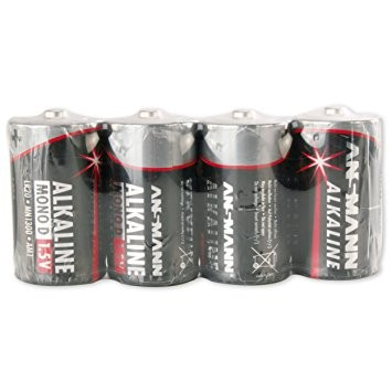 Monozellen ANSMANN LR20 Mono-D RED Alkaline 4er Pack